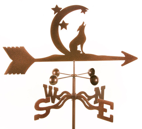 Weathervane of howling coyote