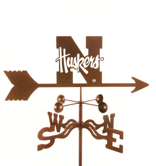 Nebraska Cornhuskers College Team Logo Weathervane