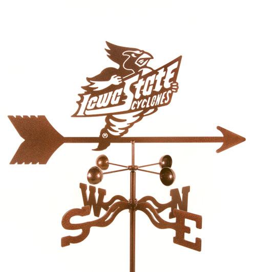 Iowa State Cyclones College Team Logo Weathervane