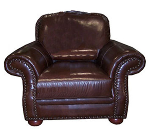 Country Western Genuine Full Grain Leather Chair