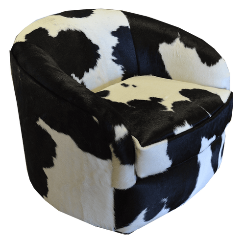 All Cowhide Barrel Chair