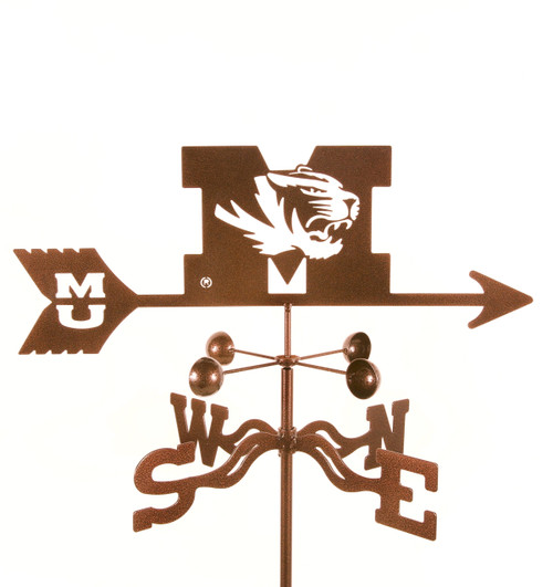 Missouri Tigers College Team Logo Weathervane