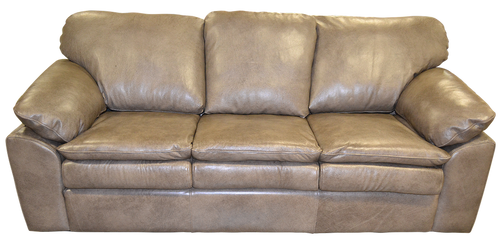 Modern Style Genuine Full Grain Leather Couch, Sofa