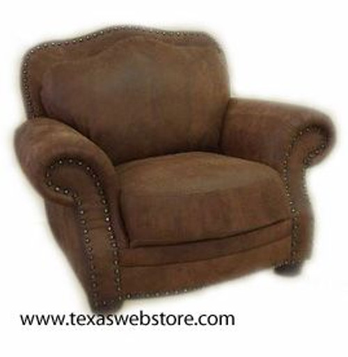 Country Western Distressed Full Grain Leather Chair or Recliner