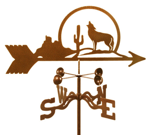 Weathervane of Coyote at Cactus