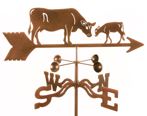 Weathervane with Cow and Calf