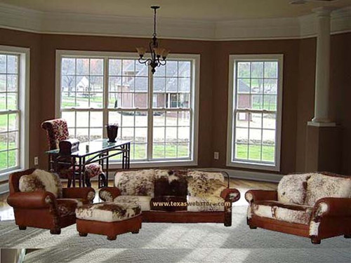 Cowhide sofa sets