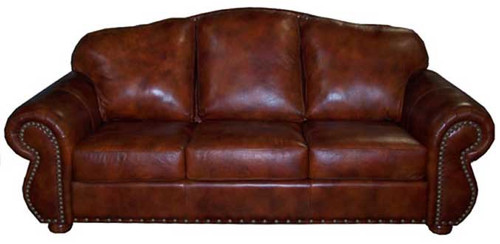 Mountain Lodge Genuine Leather Sofas, Couch
