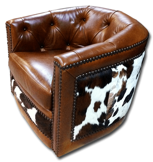 BARREL-CHAIR-WITH-COWHIDE
