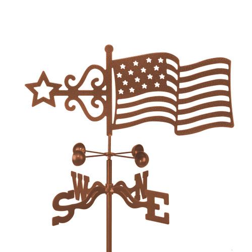 weathervane-of-american-flag