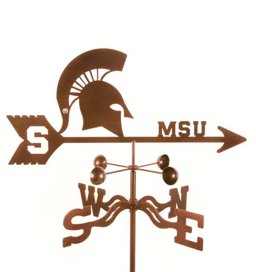 Michigan State Spartans College Team Logo Weathervane