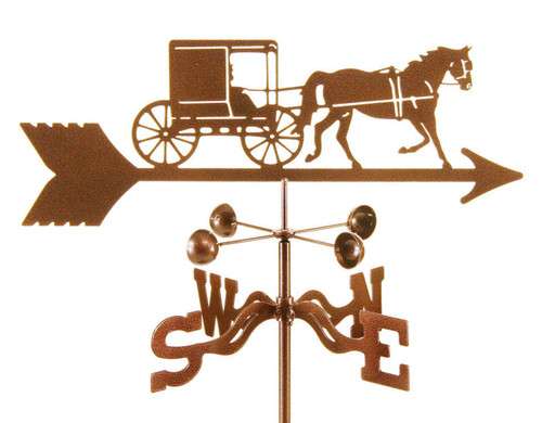 Weathervane of Amish Horse and Buggy