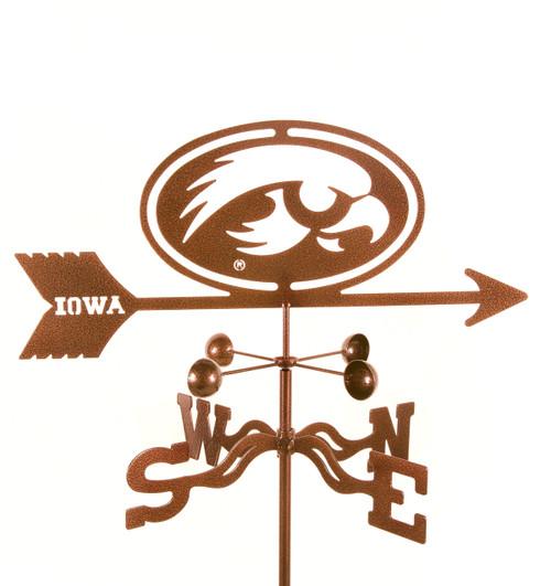 Iowa Hawkeyes College Team Logo Weathervane