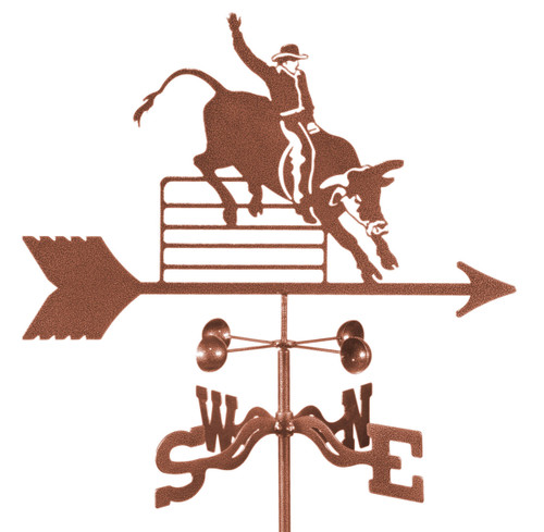 Weathervane of Rodeo Bull Rider
