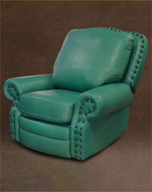 Traditional Rustic Recliner, Swivel, Glider Genuine Full Grain Leather Chair