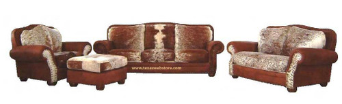 custom made cowhide furniture sets