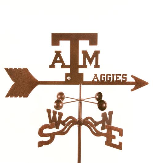 Texas-A&M Aggies College Team Logo Weathervane