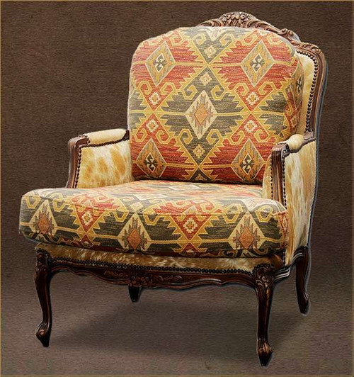 Southwest Style Chair with Cowhide