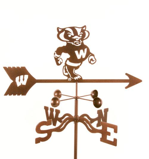 Wisconsin Badgers College Team Logo Weathervane