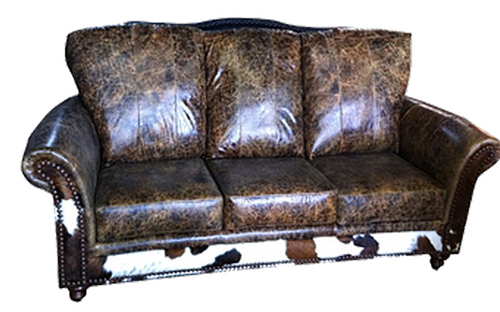 Country Western Cowhide Sofas, Western Cowhide Couches