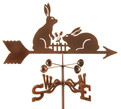 Weathervane of Rabbits at Fence