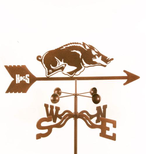 Arkansas Razorbacks College Team Logo Weathervane