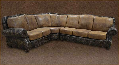 Rustic Log Cabin Sectional