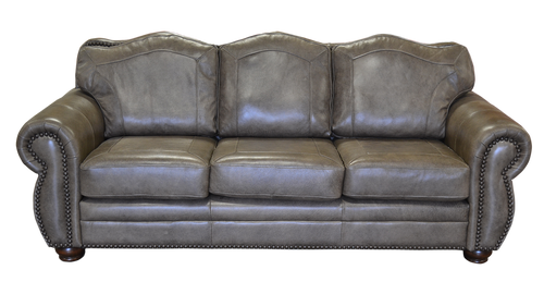 Rustic Genuine Full Grain Leather Couch
