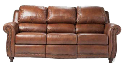 Country Western Genuine Leather Sofa