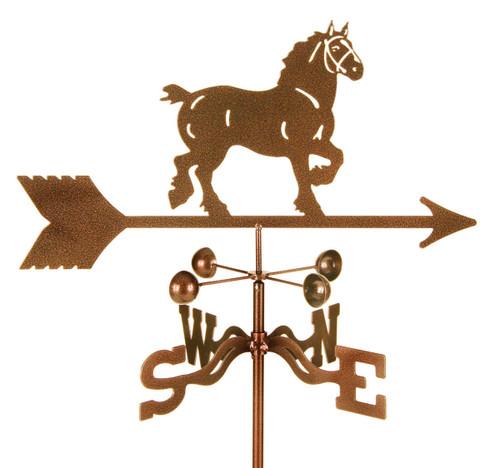 Weathervane of Draft Horse