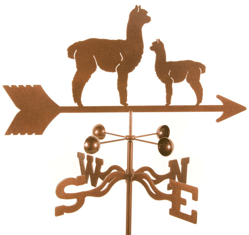 Weathervane of Alpaca, Llama and Baby