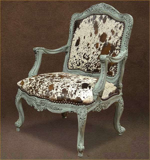 Country Western Cowhide Accent Chair