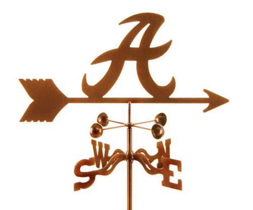 Alabama Crimson Tide College Team Logo Weathervane