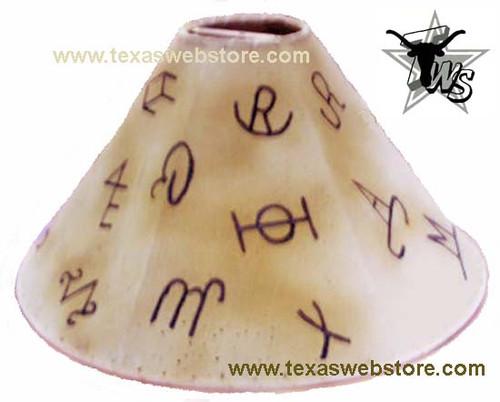 Country Western Brands Rawhide Lamp Shade