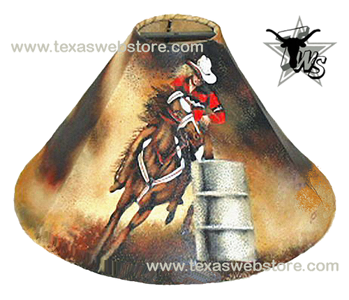Barrel racer leather lamp shade