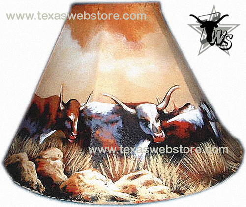 cattle herd leather lamps shade
