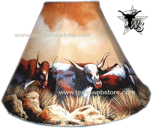 Cows/Cattle hand painted leather lamp shade