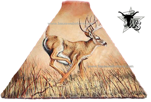 Running Deer hand painted leather lamp shade