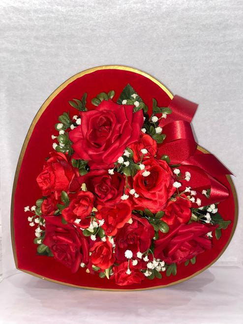 Valentine's Velvet Heart Box-  69 Truffles