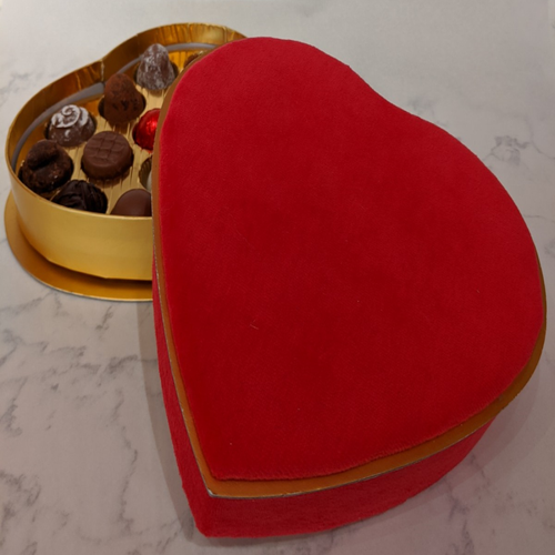 Valentines Heart Box with 17 Truffles