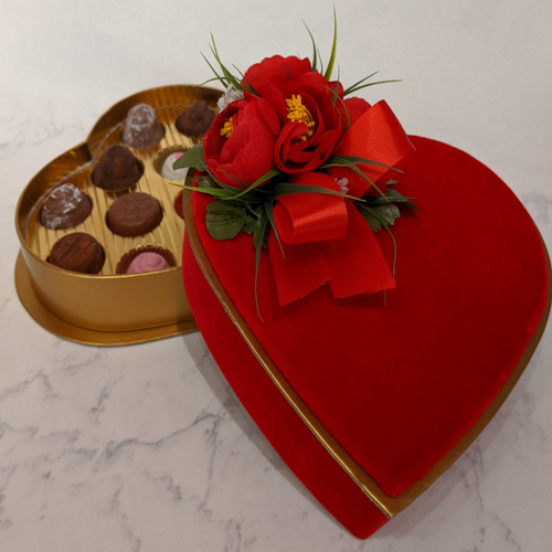 Valentines Heart Box with 13 Truffles