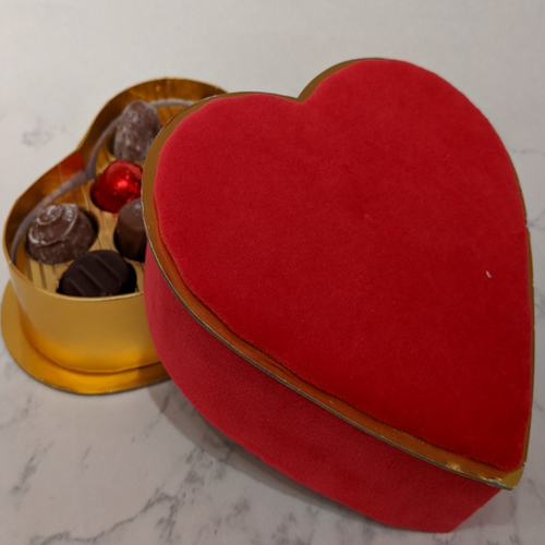 Valentines Heart Box with 10 Truffles