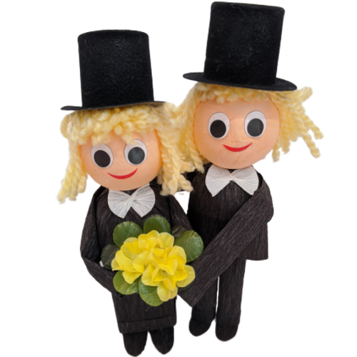 Groom and Groom with 2 truffles