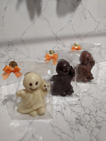 Ghost  White  Chocolate  in  cello  bag