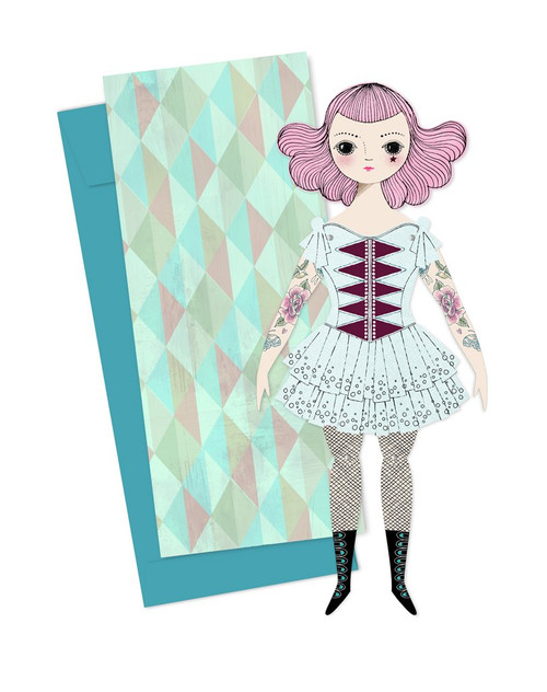Mailable Paper Doll Card Amelia