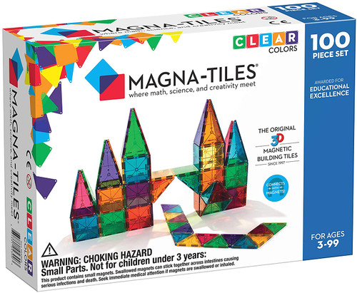 Magna-Tiles® Clear Colors 100pcs