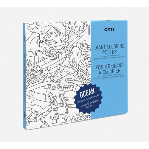 Giant Coloring Poster Folded Ocean