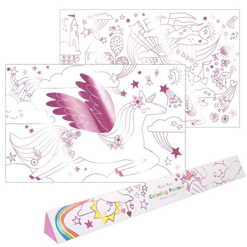 Coloring Poster Unicorn