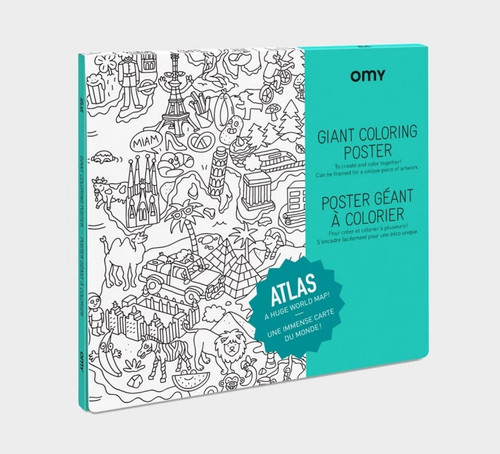 Giant Coloring Poster Folded Atlas