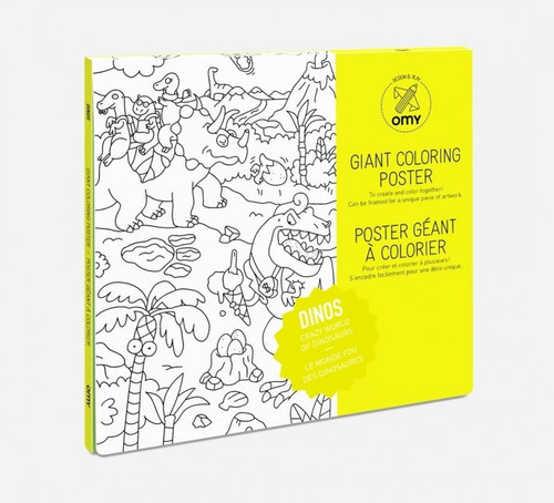 Giant Coloring Poster Folded Dino